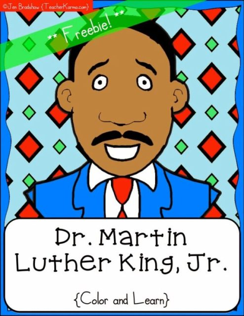 Martin Luther King, Jr. Day coloring pages. Print for free | 640x494