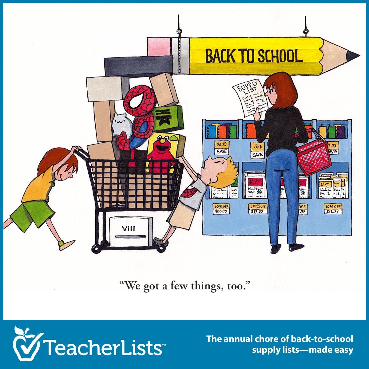 Funny Back To School Shopping Cartoons