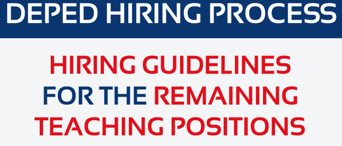 Updated DepEd Order No. 22, s. 2015 Hiring Guidelines