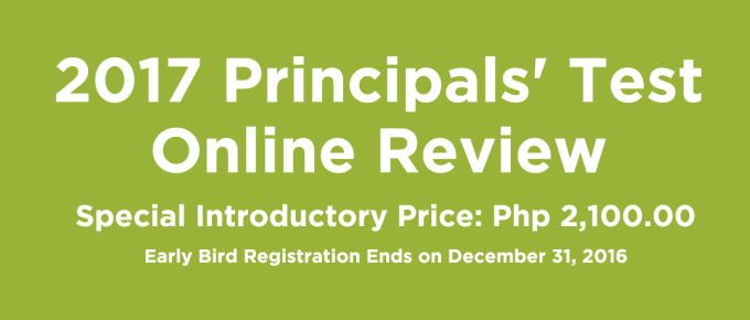 2017 Principals Test Online Review