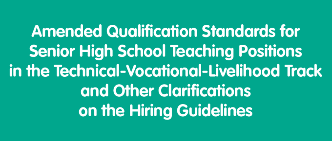 Qualification Standards for Senior High School Teaching Positions