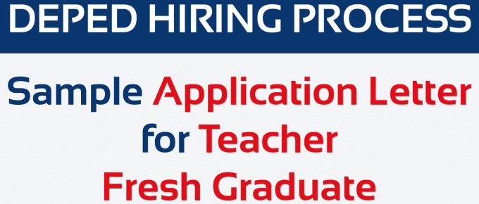 Sample Application Letter for Teacher Fresh Graduate