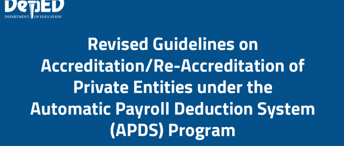 DepEd Automatic Payroll Deduction System (APDS) Program