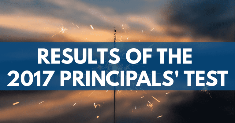 Results 2017 Principals' Test NQESH