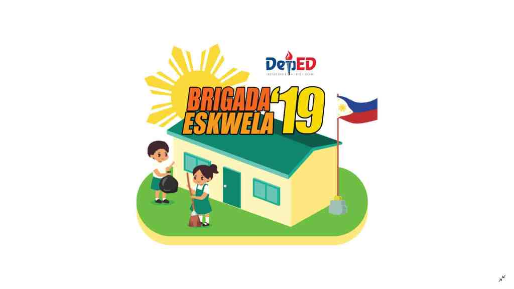 2019 Brigada Eskwela Official Banner and Shirt Design