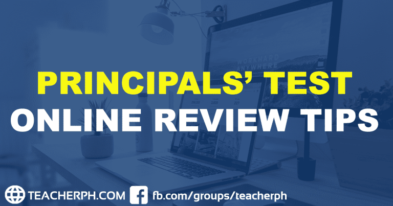 PRINCIPALS' TEST ONLINE REVIEW TIPS