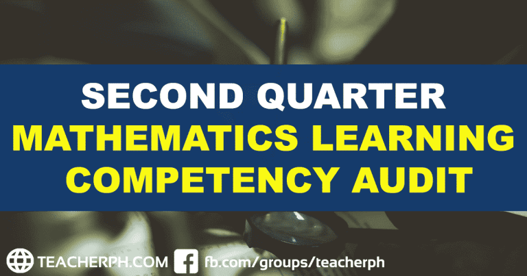 DepEd Second Quarter Mathematics Learning Competency Audit