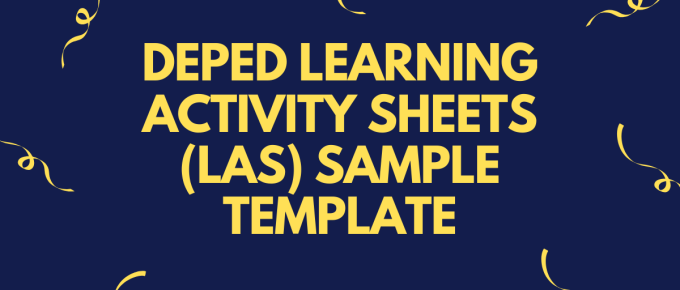 DepEd Learning Activity Sheets (LAS) Sample Template