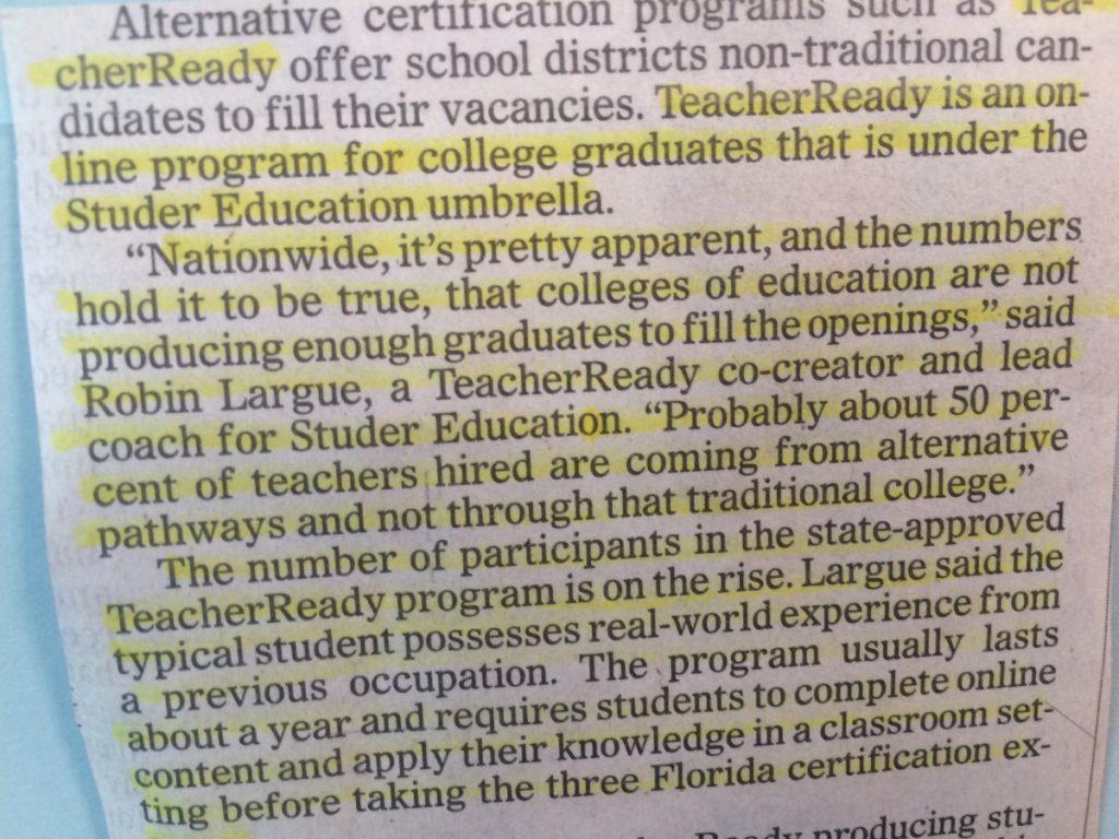 TeacherReady in the News