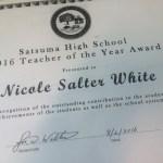 Teacher of Year Salter