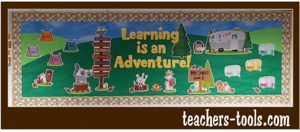 Woodland Learning Is An Adventure Bulletin Board