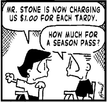 Image result for comics about tardy