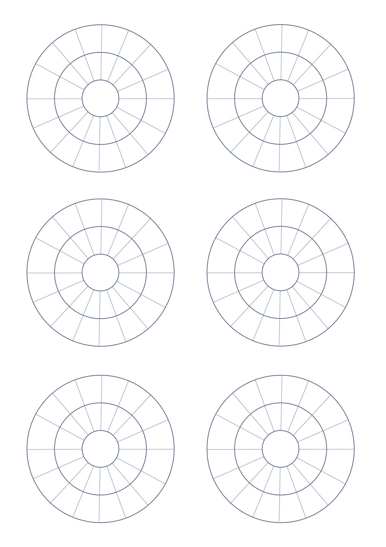 Blank Multiplication And Division Wheels