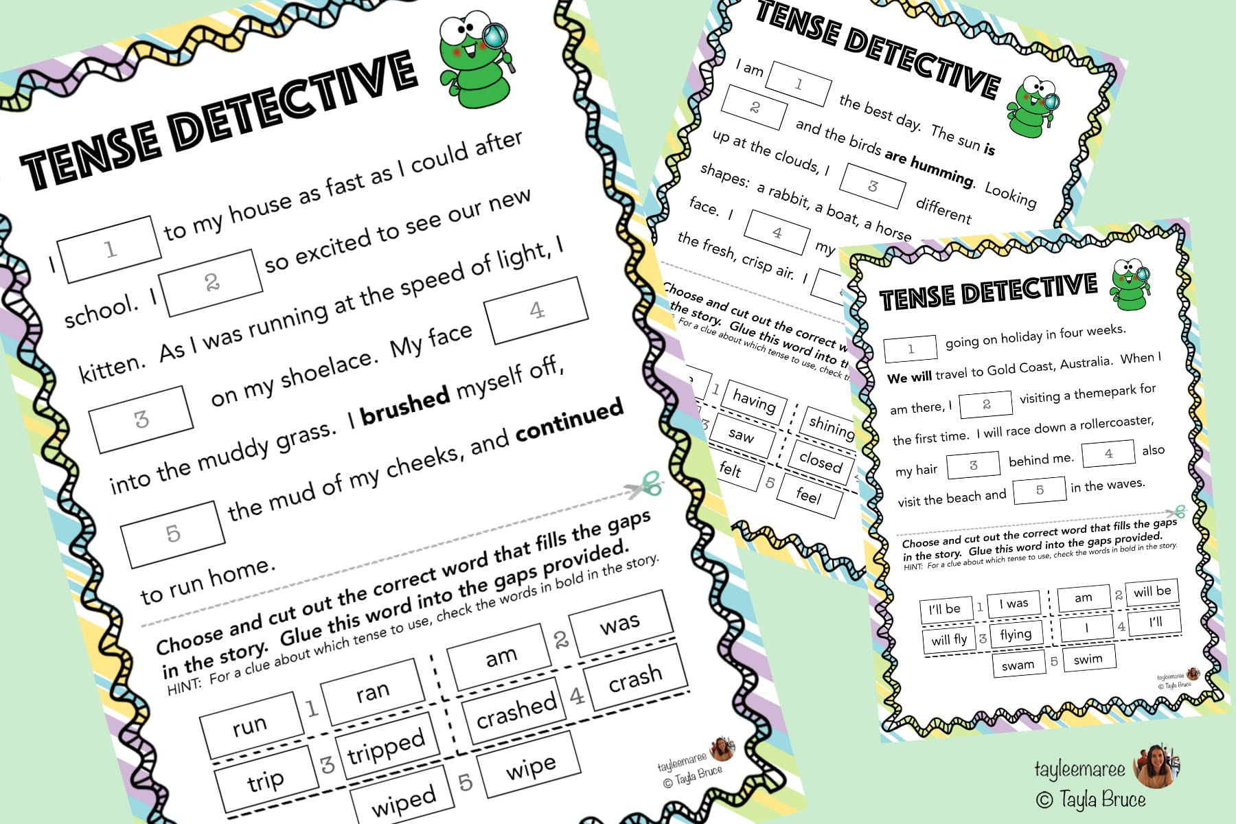 Tense Detective Worksheets And Activities
