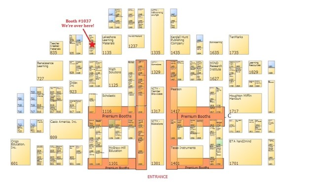 Map to booth