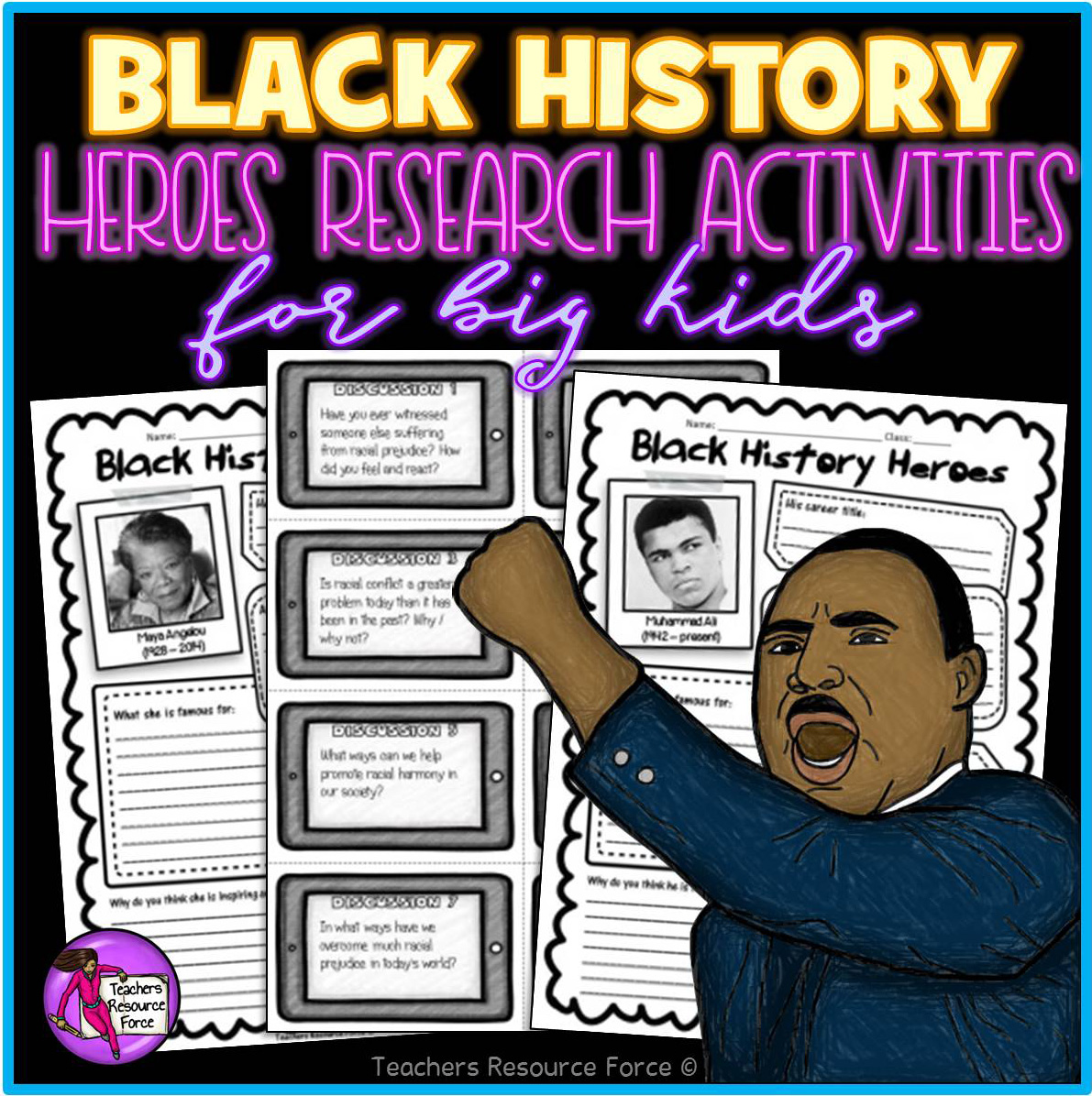 Black History Month Research Activities For Teens