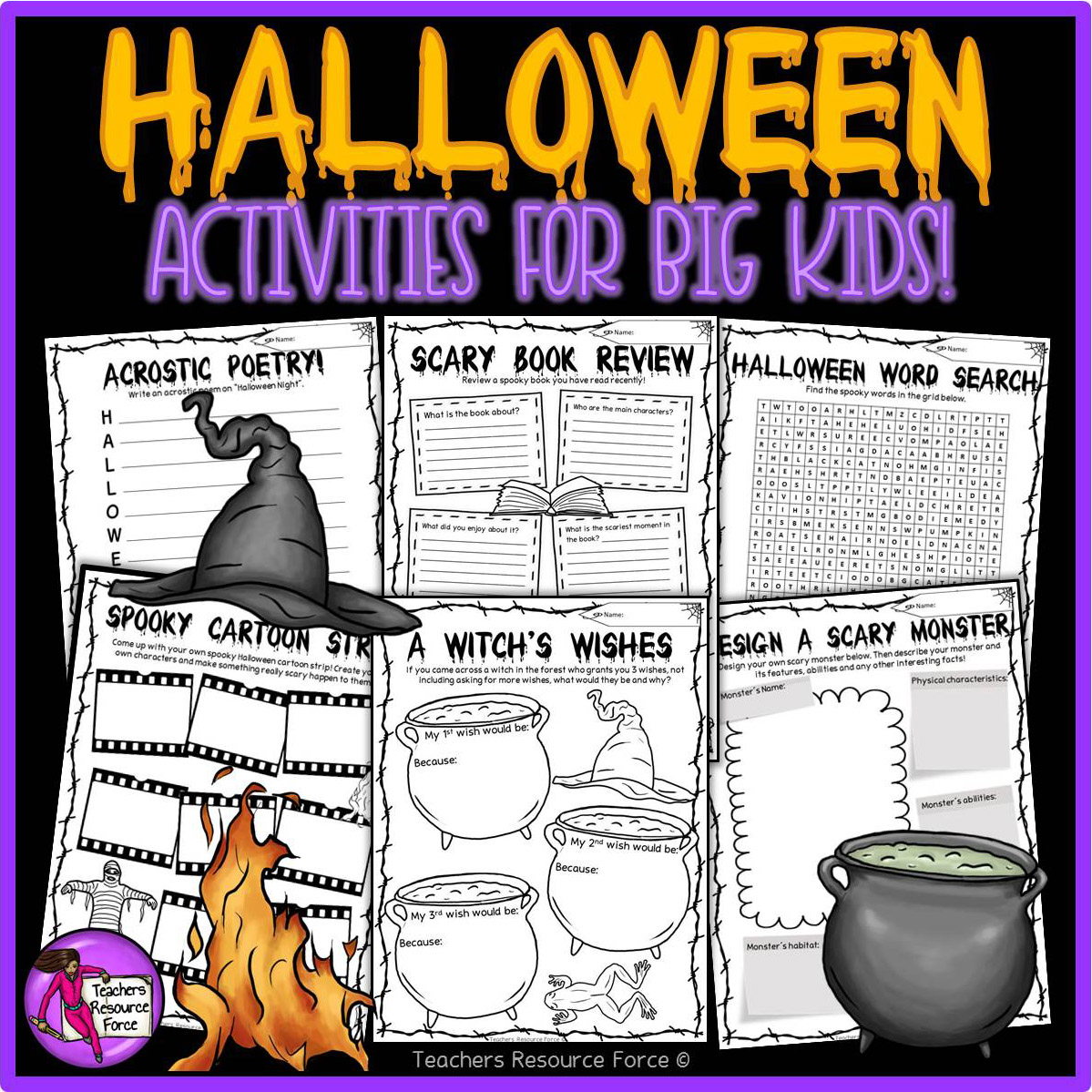 Halloween Lesson Plan Resources For Teenagers