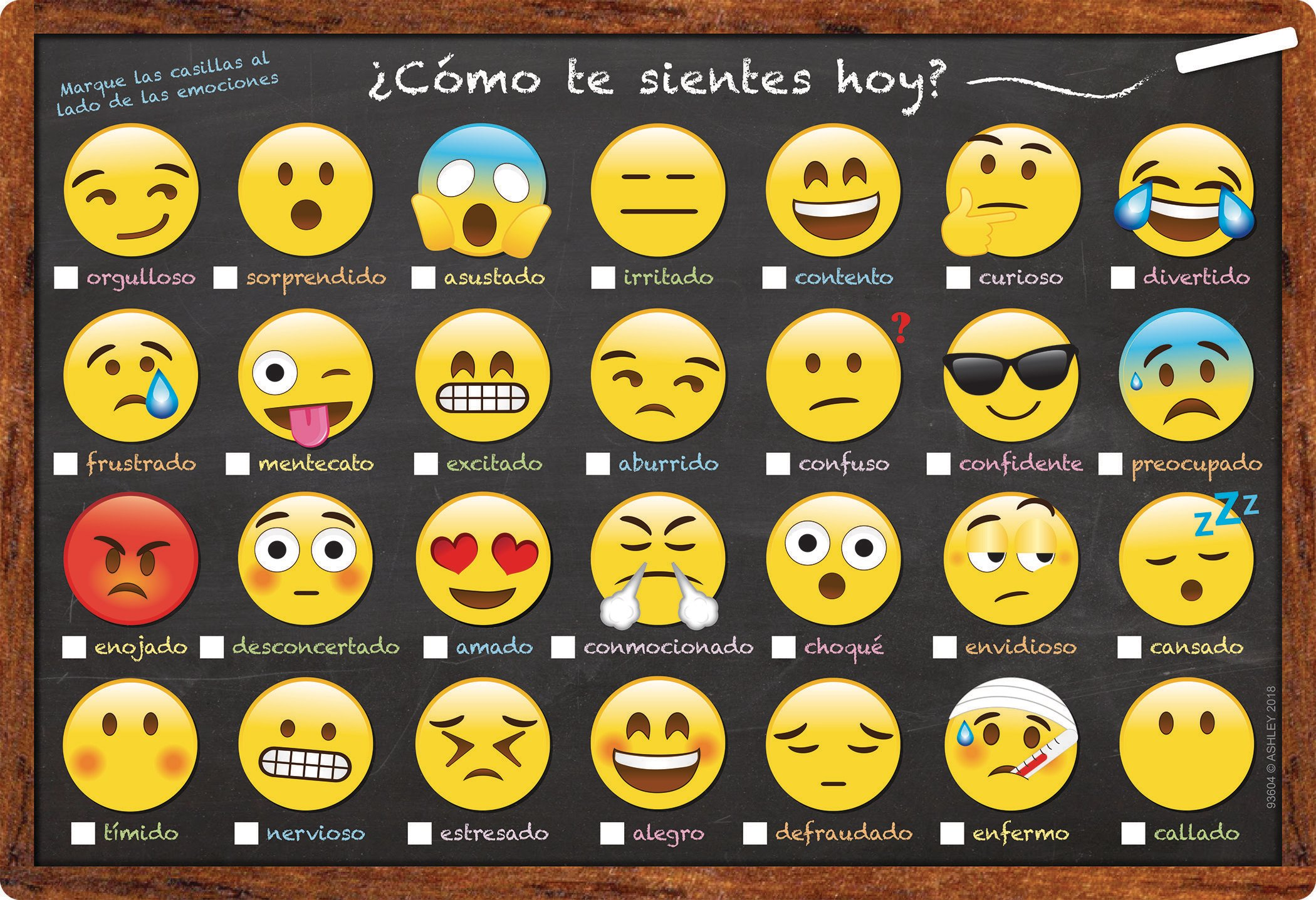 Teachertoolsinc Spanish Emoji How Are You Feeling