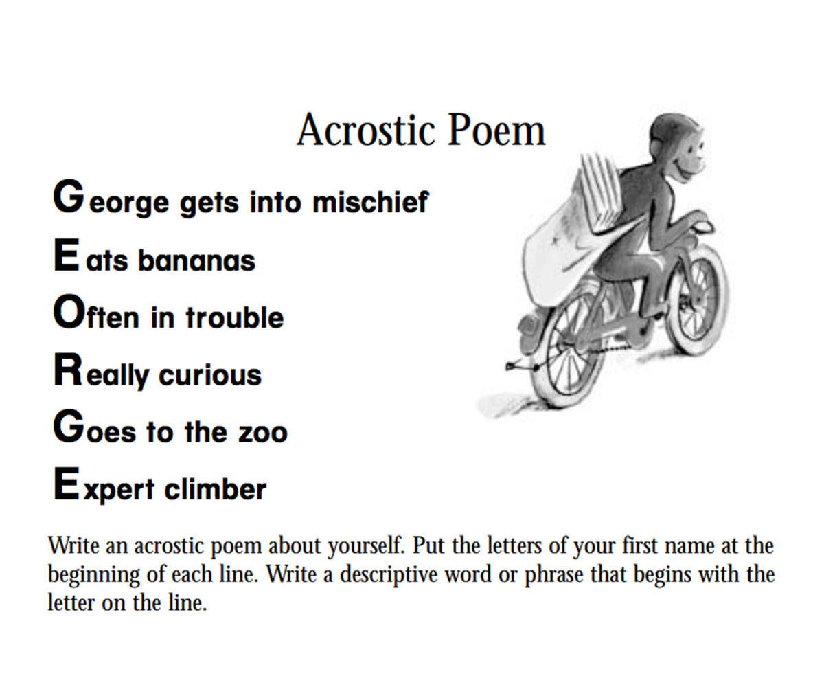 Curious George An Acrostic Poem