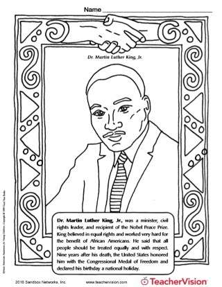 Rosa Parks Coloring Page Teachervision