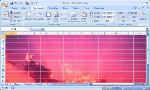 Set A Photo Image As An Excel Worksheet Background