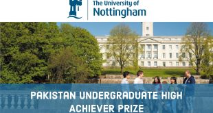 University of Nottingham (UK) – Pakistan Undergraduate High Achiever Prize