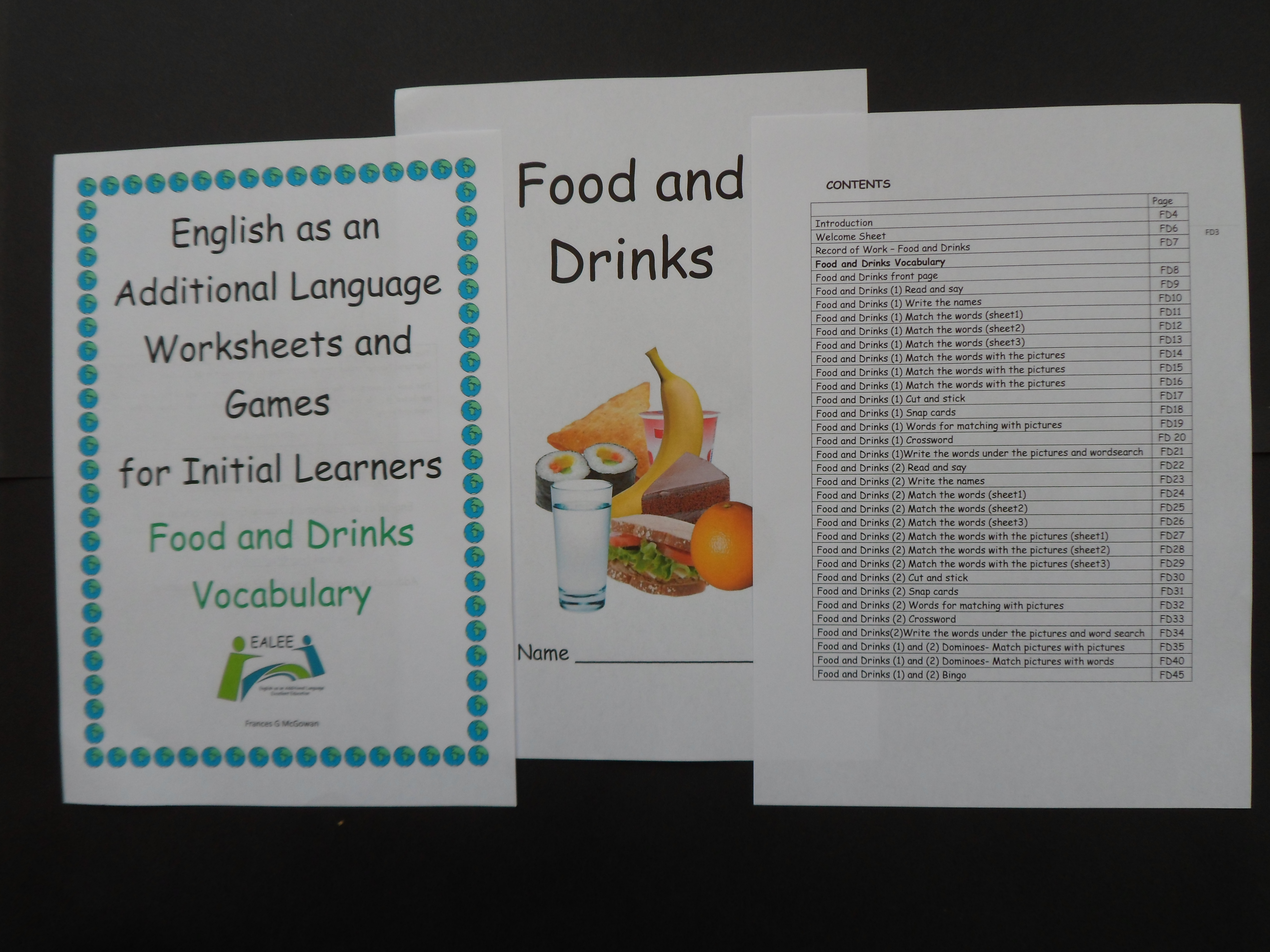 Eal Esl Worksheets And Games For Initial Learners Food And Drinks Vocabulary