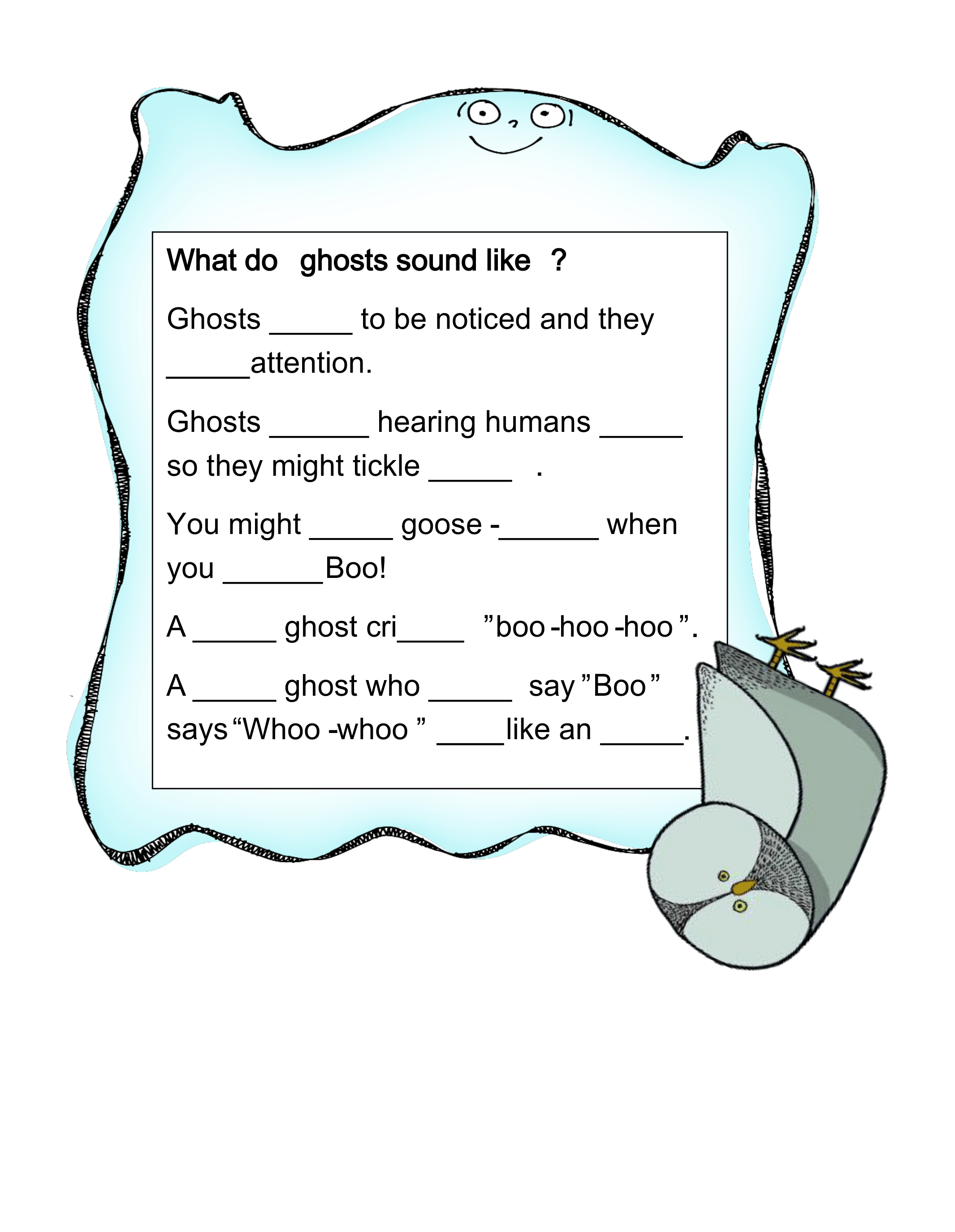 Ghost Chit Chat Reading Amp Writing Activities