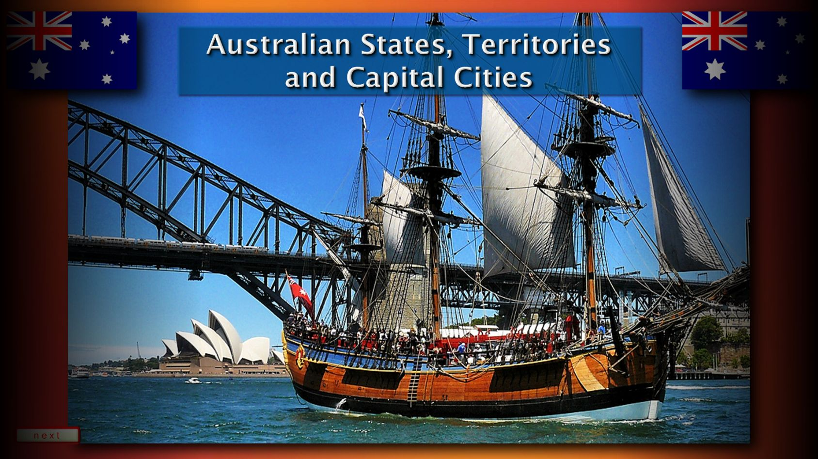 The Australian States Territories And Capital Cities Map