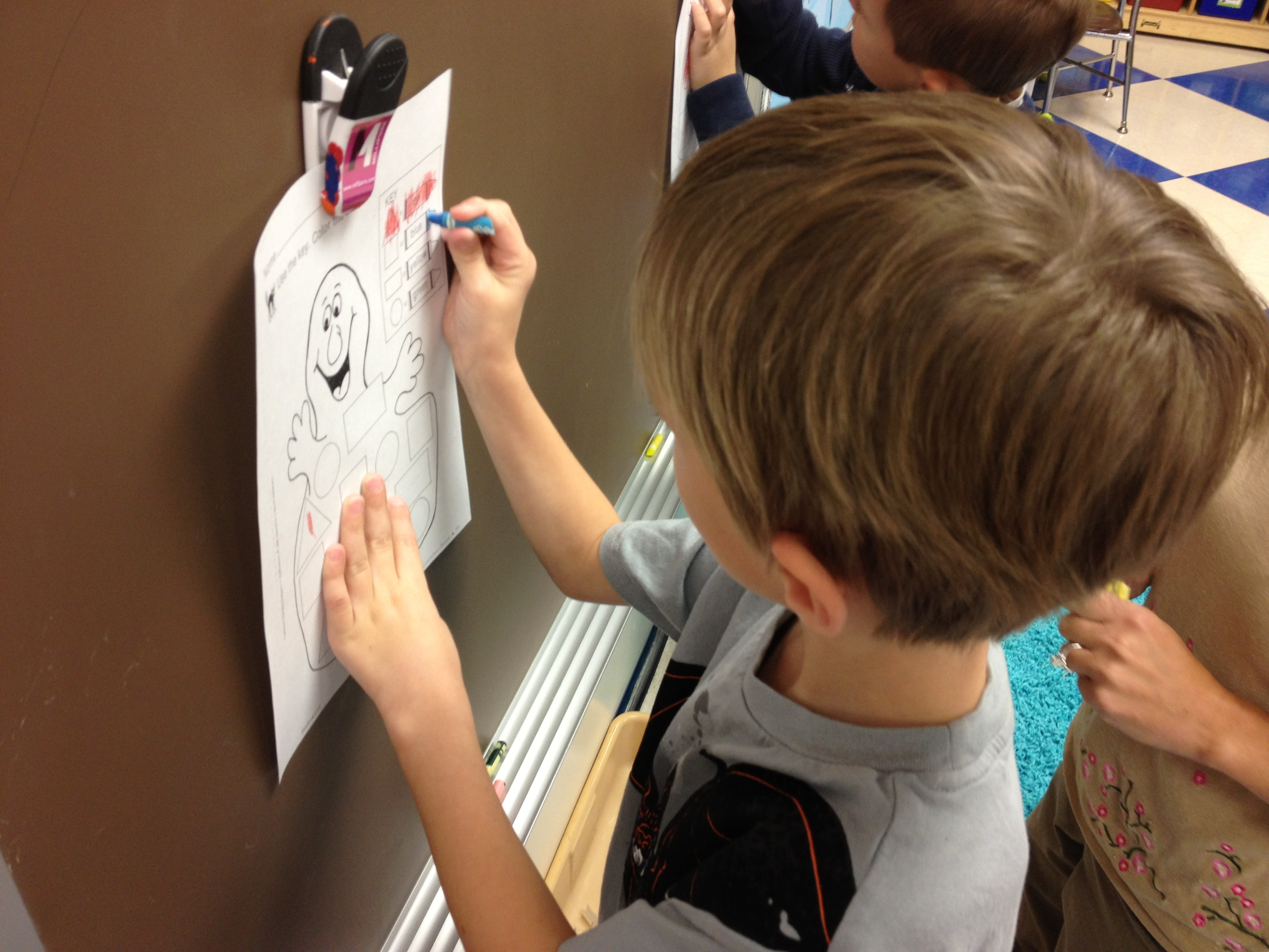 Vertical Writing Building Fine Motor Skills