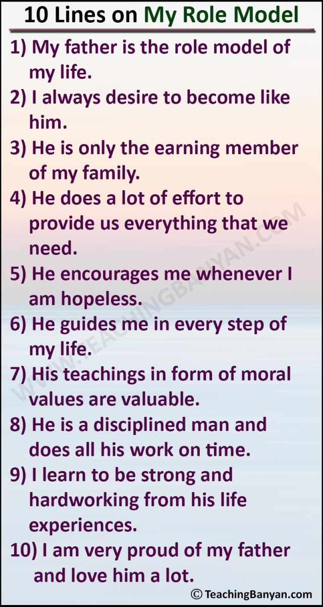 25 Lines on My Role Model for Children and Students