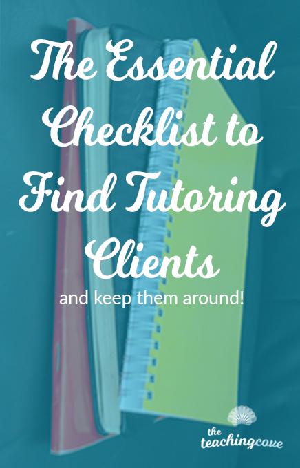The Essential Tutoring Client Checklist
