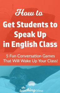 How To Get Students To Speak In English Class