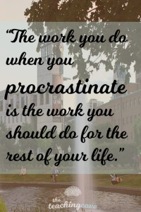 Motivational Monday Procrastination