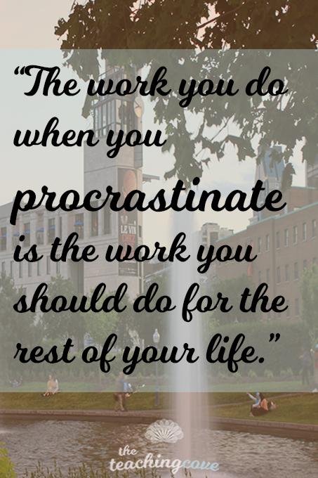 Motivational Monday Procrastination