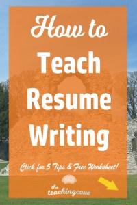 How To Teach Resume Writing