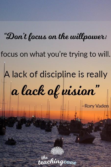 Motivational Mondays - Willpower & Vision
