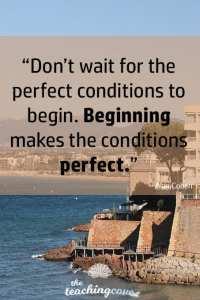 Motivational Monday 37 Beginning Makes It Perfect