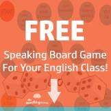 Free Speaking Board Game -Adjectives