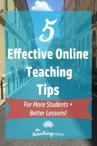 5 Teach Online Tips