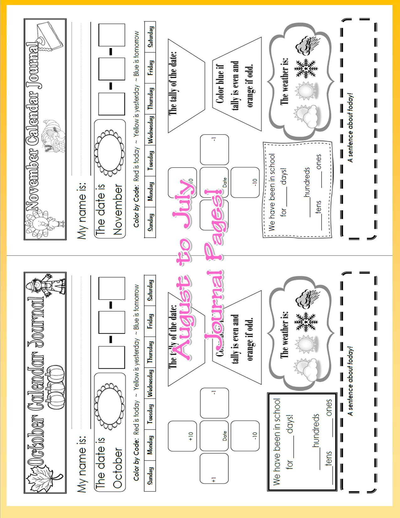 Primary Calendar Ideas Pictures And Activities