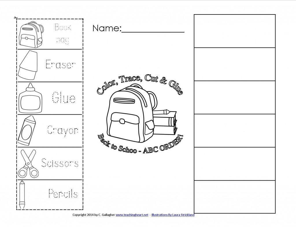 Back To School Abc Order Free To Print Teaching Heart Blog