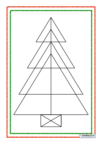 Christmas Tree Triangles Puzzles Teaching Ideas