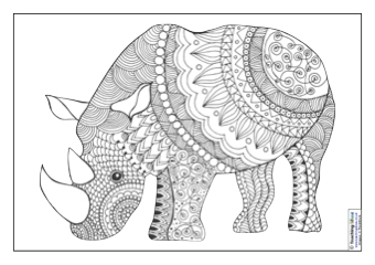 Mindfulness Colouring Images Animals Teaching Ideas