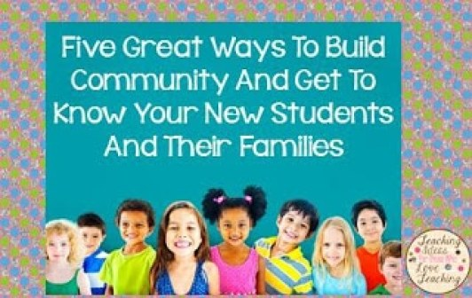 Community Building in the Classroom