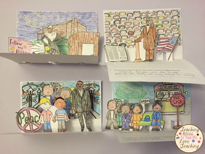 black history month pop up books back from winter break activities