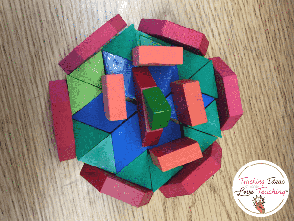 Pattern blocks - End of year activity tip
