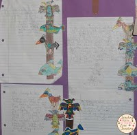 Student Writing about Native American Heritage