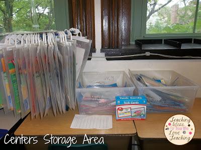 2nd grade Centers Storage