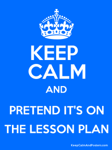 keep calm not on lesson plans